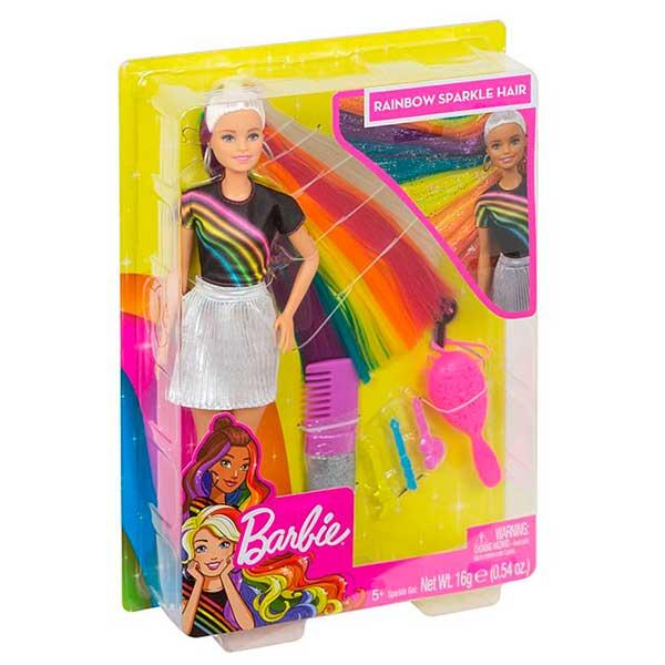 Muñeca Barbie Mechas Arco Iris - Imagen 5