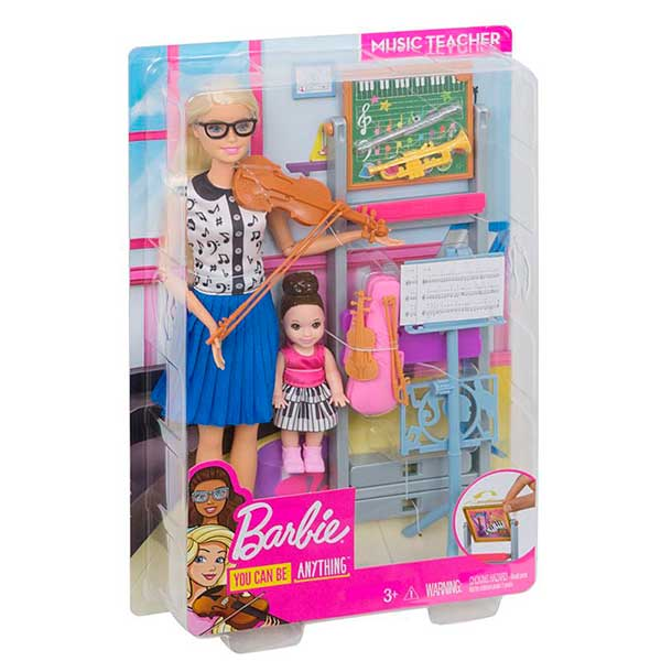Muñeca Barbie Quiero Ser Profesora Música - Imagen 1