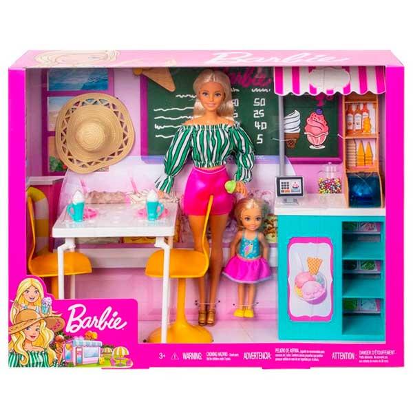 Muñeca Barbie Conjunto Heladería - Imagen 1
