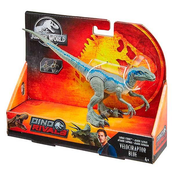 Jurassic World Figura Dinosaurio Velociraptor Blue Dino Rivals - Imagen 2