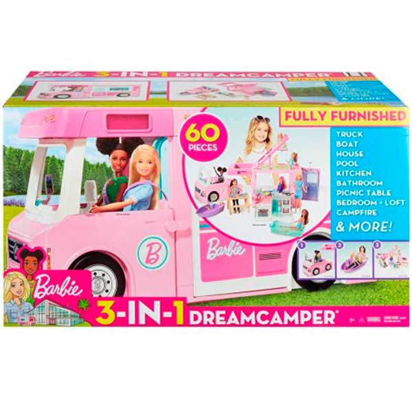Caravana Barbie 3 em 1 da Barbie com piscina