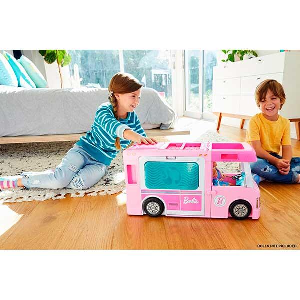 Barbie Caravana 3 en 1 de Barbie con Piscina - Imagen 1