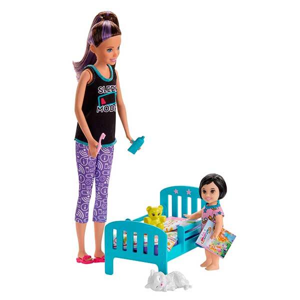 Barbie Muñeca Canguro con camita