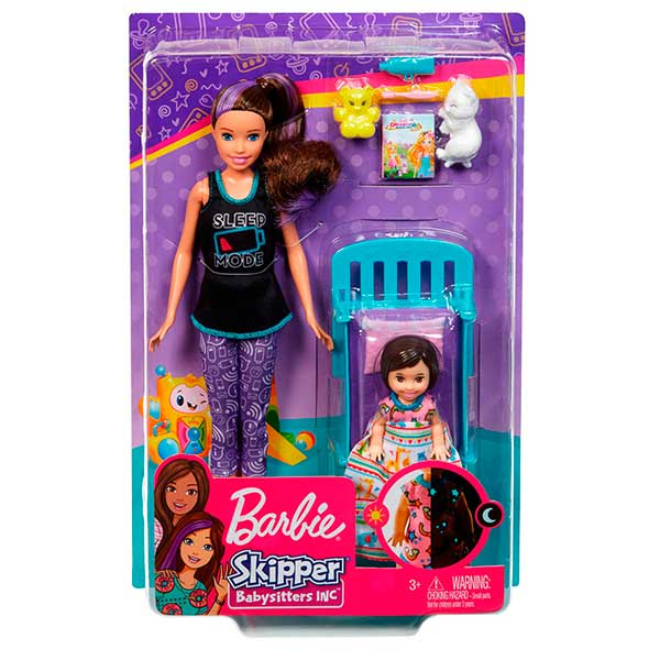 Barbie Muñeca Canguro con camita - Imagen 1