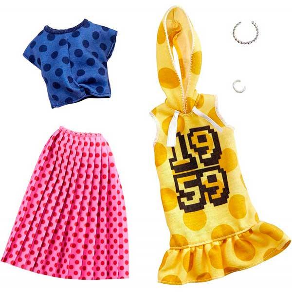 Barbie Vestidos Pack Doble de Roupas #5