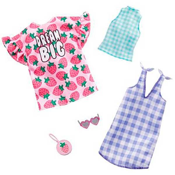 Barbie Vestidos Pack Doble de Roupas #6