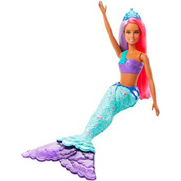 Muñeca Barbie Sirena Dreamtopia Brillos ArcoIris #2 - Imagen 1