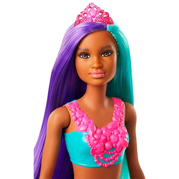 Muñeca Barbie Sirena Dreamtopia Brillos ArcoIris #3 - Imagen 1