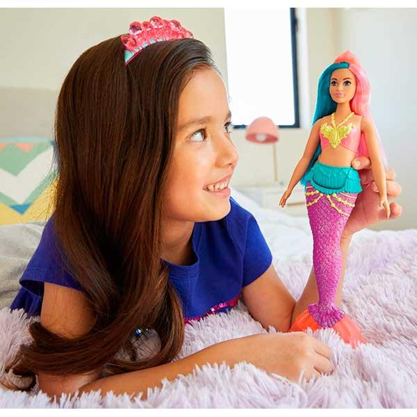 Muñeca Barbie Sirena Dreamtopia Brillos ArcoIris #4 - Imagen 1