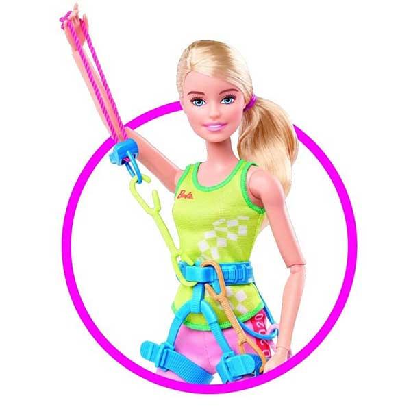 Muñeca Barbie Escaladora Olimpiadas Tokyo 2020 - Imagen 1