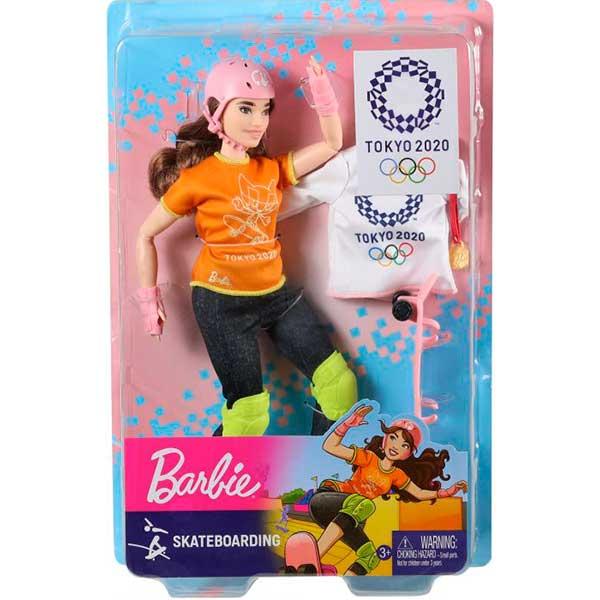 Boneca Barbie Skateboard Olimpiadas Tokyo 2020