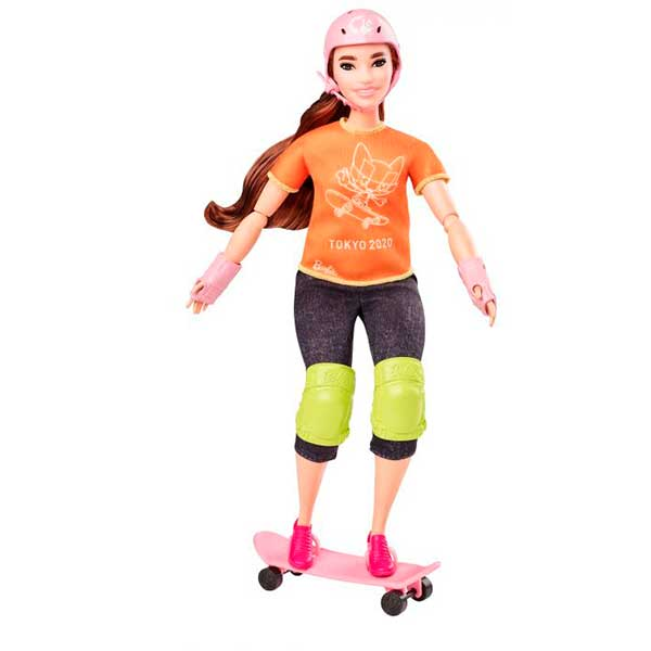 Muñeca Barbie Skateboard Olimpiadas Tokyo 2020 - Imagen 1