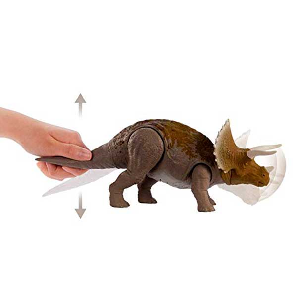 Jurassic World Figura Dinosaurio Triceratops Sonidos - Imagen 2