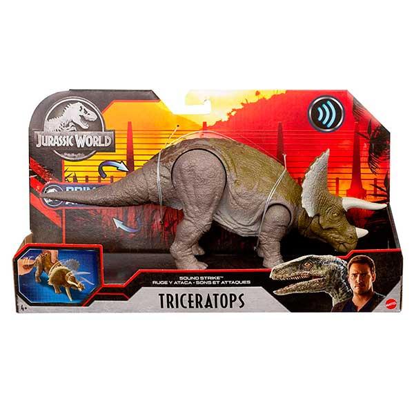 Jurassic World Figura Dinosaurio Triceratops Sonidos - Imagen 4