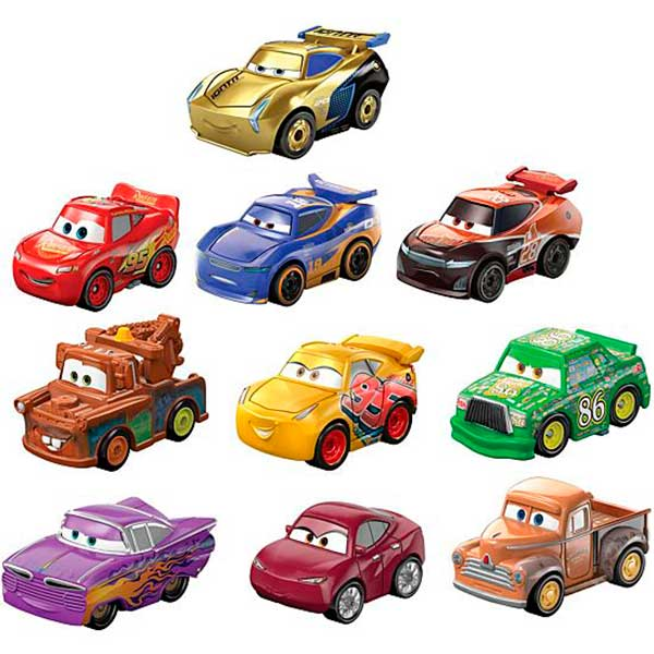 Cars Pack 10 Coches Mini Racers #4 - Imagen 1