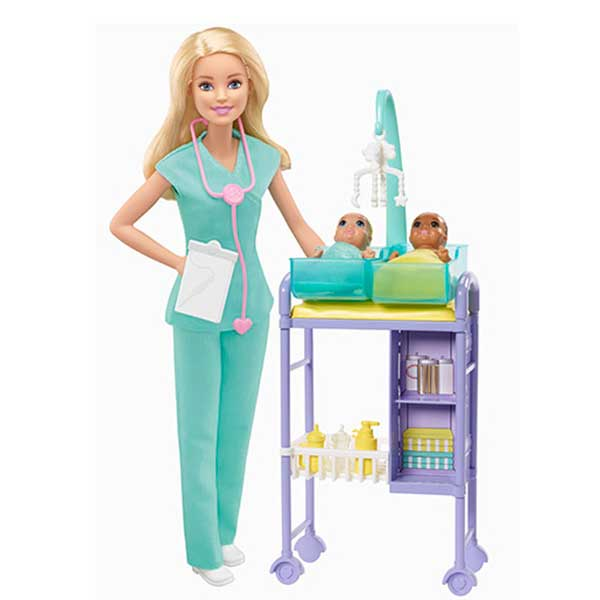 Muñeca Barbie Quiero Ser Pediatra
