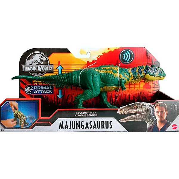 Jurassic World Figura Dinosaurio Majungasaurus Sonidos y Ataque