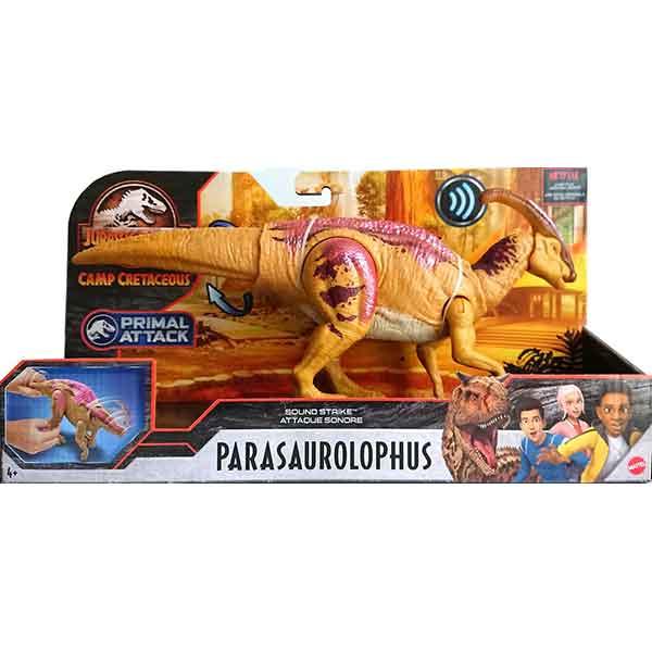 Jurassic World Figura Dinosaurio Parasaurolophus Sonidos y Ataque