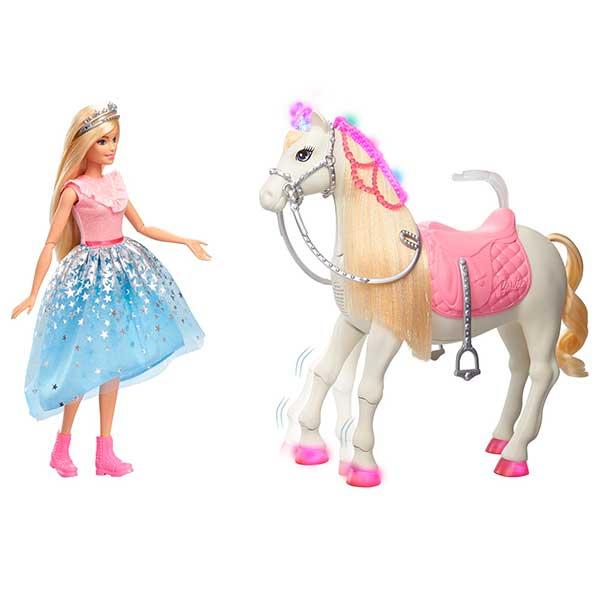 Barbie Caballo Prance Shimmer y Barbie Princesa