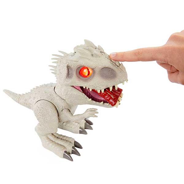 Jurassic World Figura Dinosaurio Indominus Rex Feeding Frenzy con Luces y Sonidos - Imagen 1
