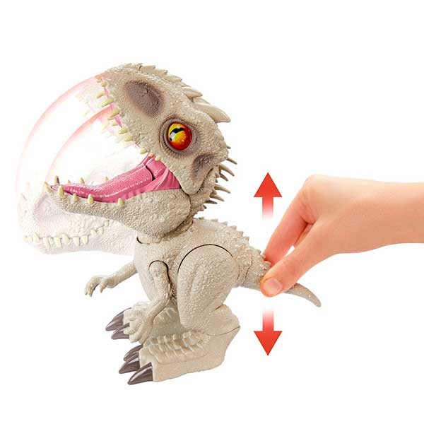 Jurassic World Figura Dinosaurio Indominus Rex Feeding Frenzy con Luces y Sonidos - Imagen 3