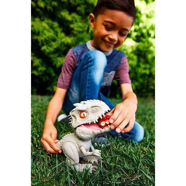 Jurassic World Figura Dinosaurio Indominus Rex Feeding Frenzy con Luces y Sonidos - Imagen 4