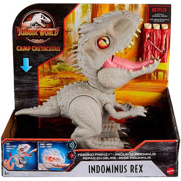 Jurassic World Figura Dinosaurio Indominus Rex Feeding Frenzy con Luces y Sonidos - Imagen 6