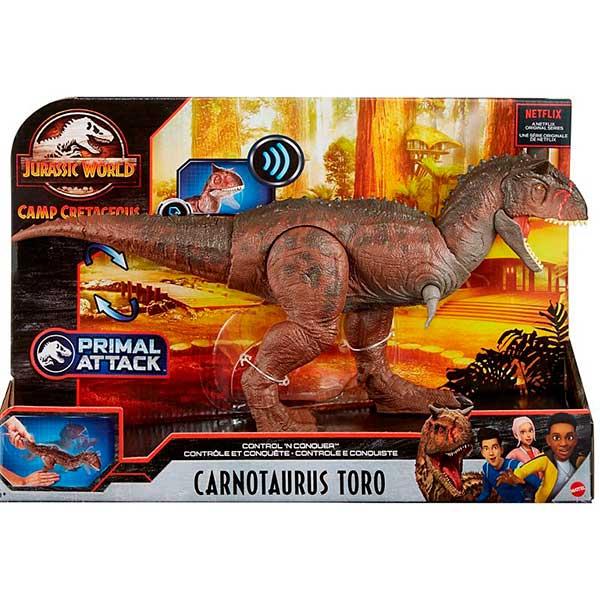 Jurassic World Figura Dinosaurio Carnotaurus Toro N Conquer - Imagen 4