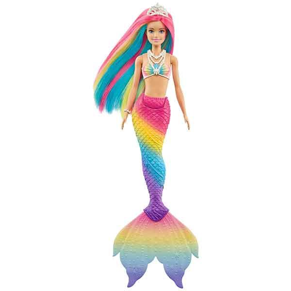 Barbie Muñeca Sirena Arcoiris Mágico - Imagen 1