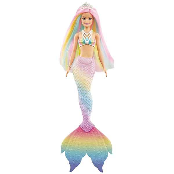 Barbie Muñeca Sirena Arcoiris Mágico - Imagen 2