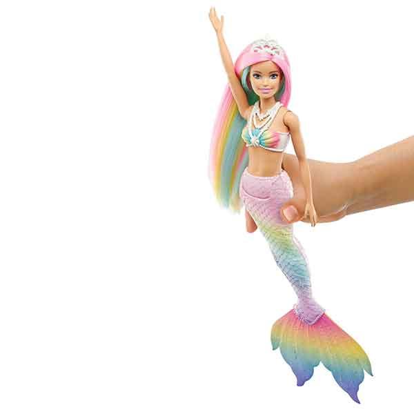 Barbie Muñeca Sirena Arcoiris Mágico - Imagen 3