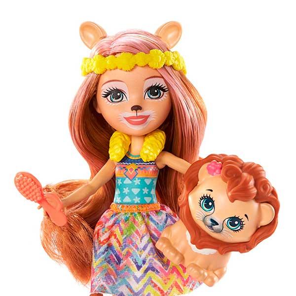 Enchantimals Lacey Lion Y Salón De Belleza - Imagen 1