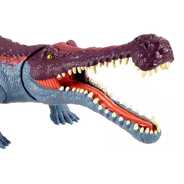 Jurassic World Dinosaurio Sarcosuchus Mordedor Gigante - Imagen 1