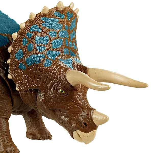 Jurassic World Dinosaurio Triceratops Ruge y Ataca - Imagen 1