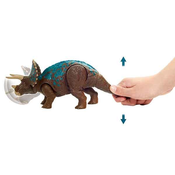 Jurassic World Dinosaurio Triceratops Ruge y Ataca - Imagen 2