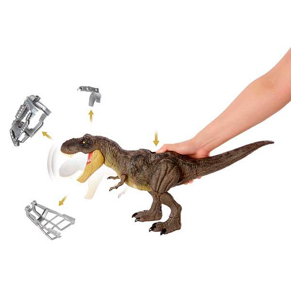 Jurassic World Dinosaurio T-Rex Pisa y Ataca - Imagen 6