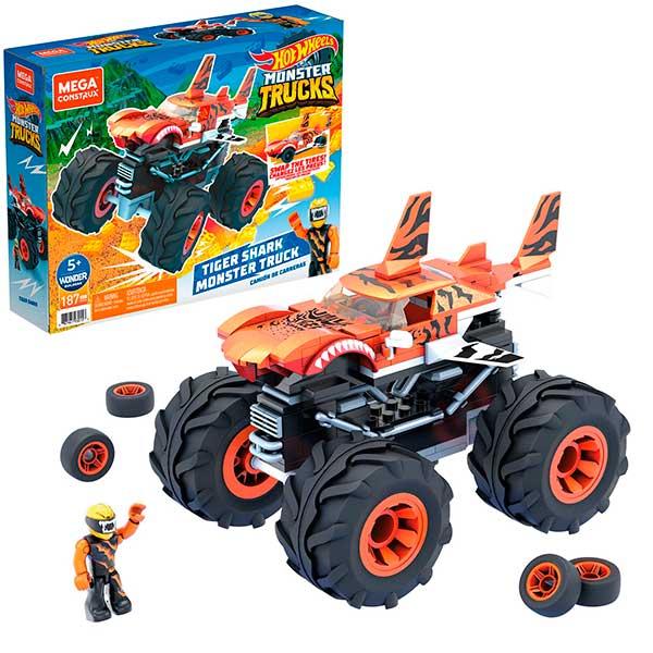 Hot Wheels Mega Construx Monster Truck Tiger Shark - Imagen 1