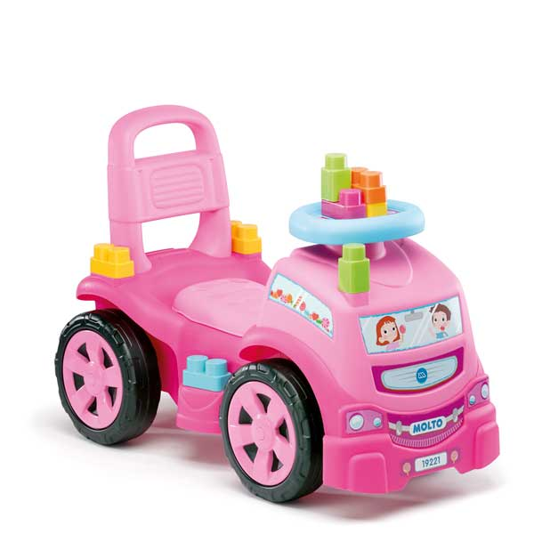 Camió Correpassadissos 3en1 Rosa amb 10 Blocs - Imatge 1
