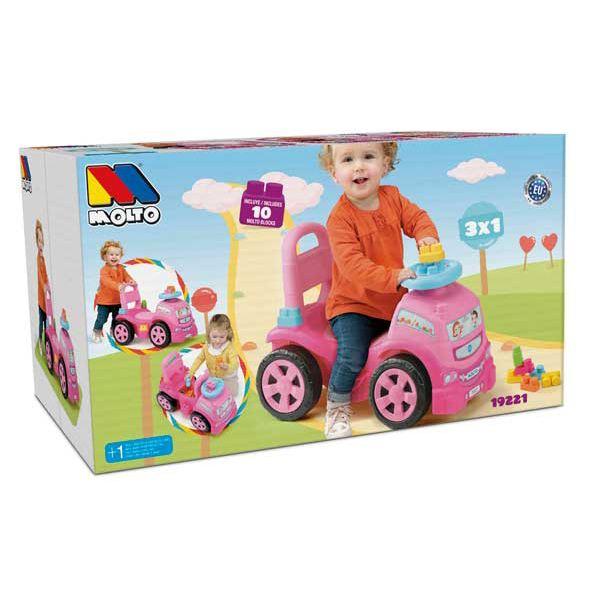 Camión Correpasillos 3en1 Rosa con 10 Bloques - Imatge 4