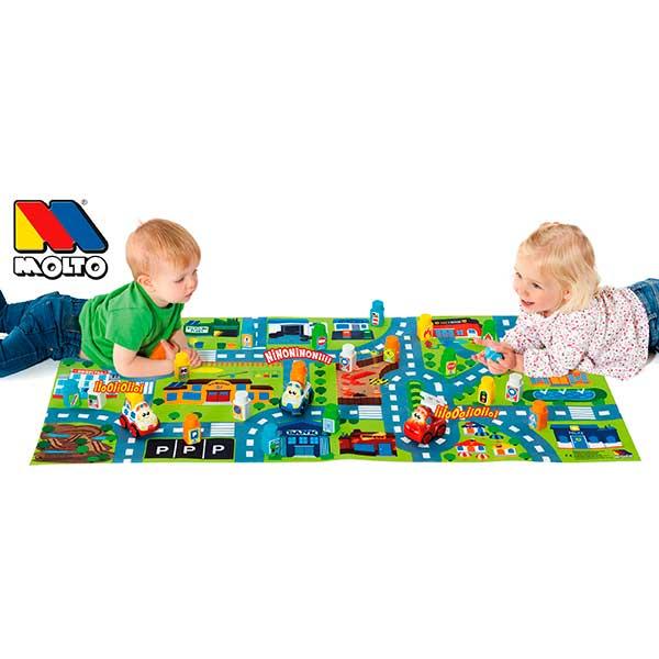Tapiz Infantil Carreteras y 25p Bloques - Imatge 1