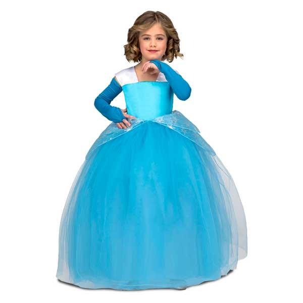 Disfraz Princesa Tutu Azul Infantil 7-9 años