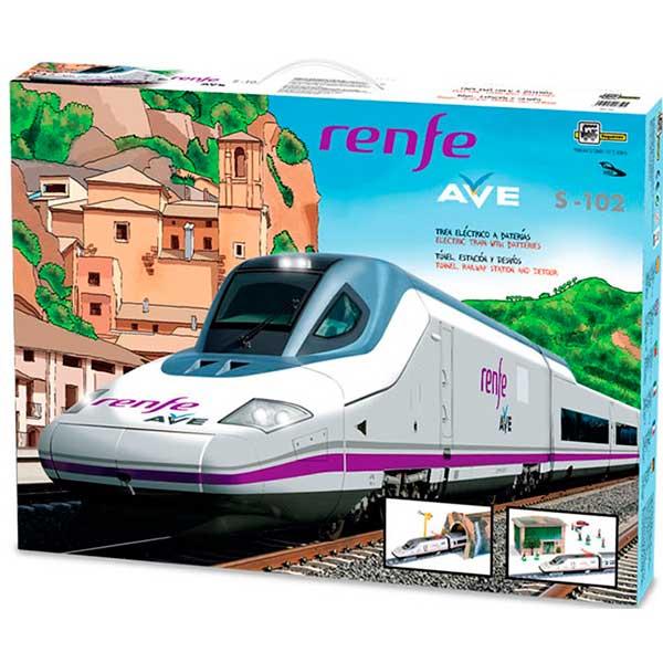 Tren Electrico Infantil AVE Renfe con Diorama - Imagen 1