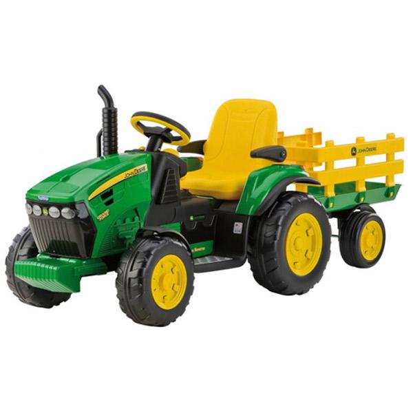 Tractor John Deere amb Remolc 12 Volts - Imatge 1