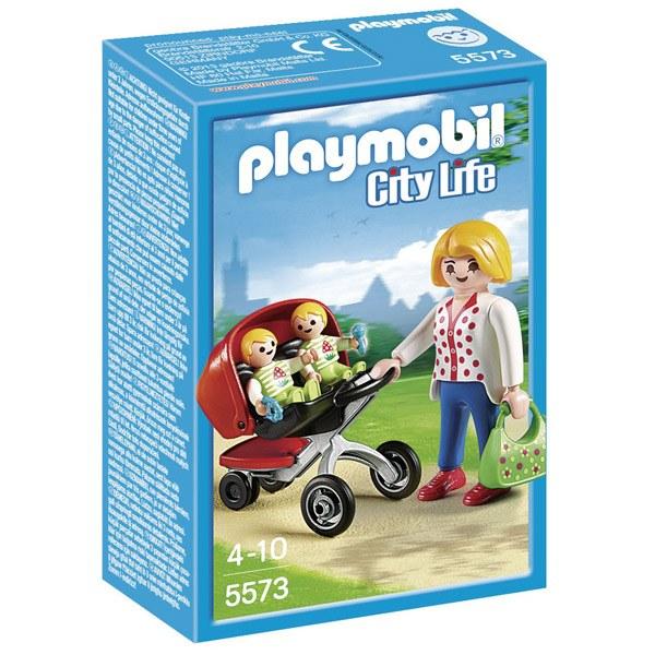 Playmobil 5573 Mama con Carrito de Gemelos