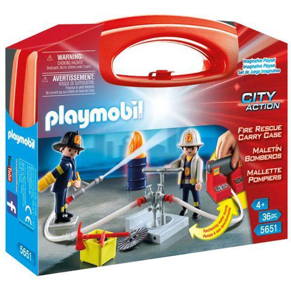 Playmobil City Action 5651 Maletín Grande Bomberos