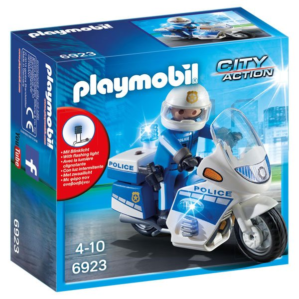 Policia amb Moto i Llums LED Playmobil - Imatge 1