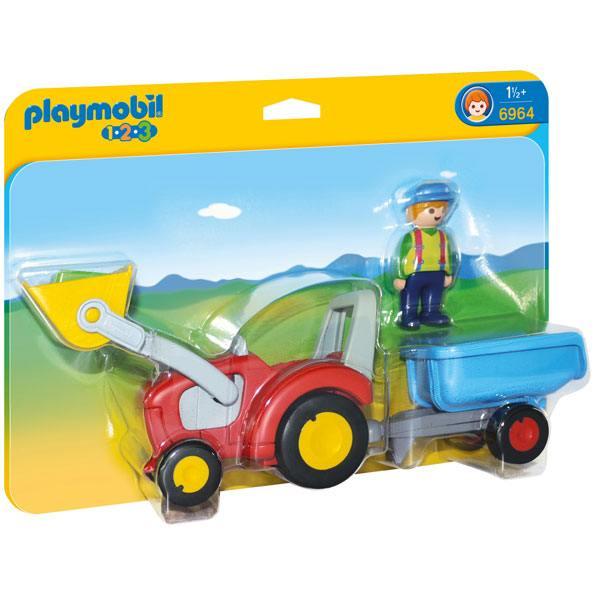 Tractor amb Remolc Playmobil 1.2.3 - Imatge 1