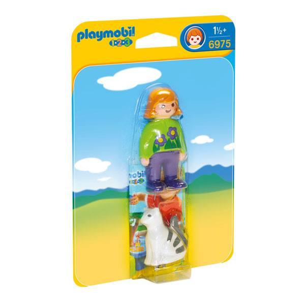 Playmobil 123 - 6975 Mujer con Gato