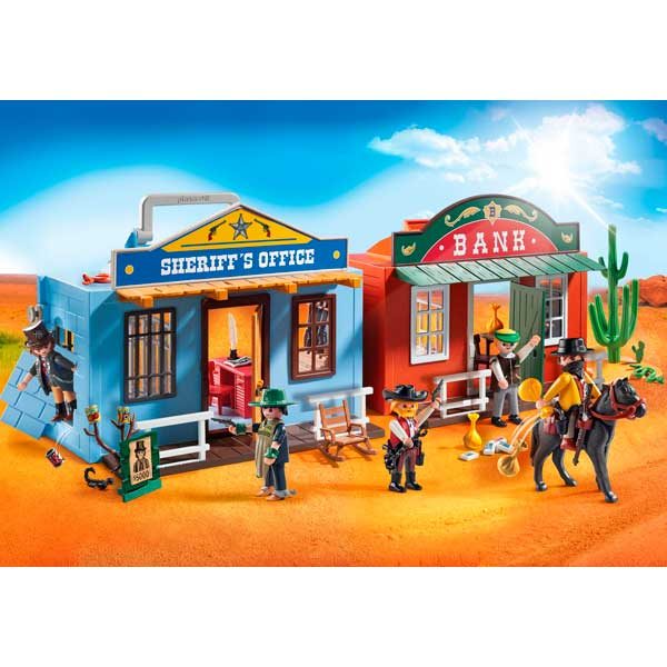 Maletín Ciudad del Oeste Playmobil Western - Imatge 2