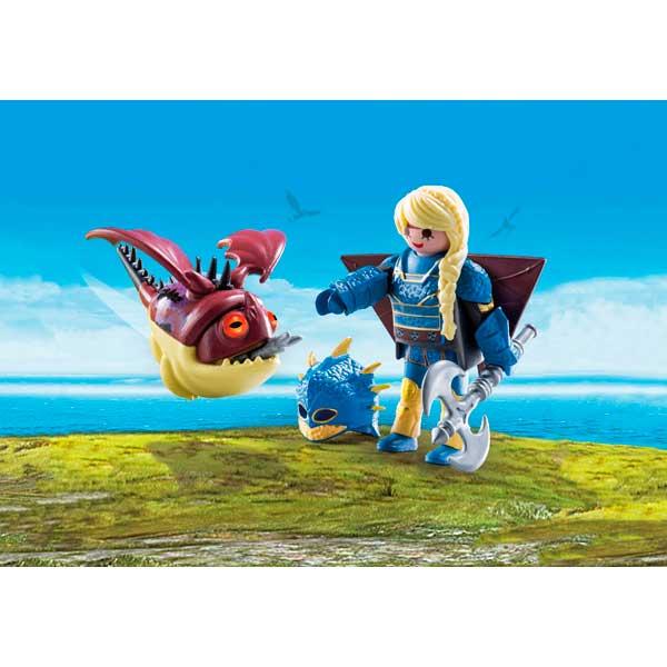 Playmobil Dragones de Berk 70041 Astrid con Globoglob - Imagen 2